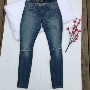 Lucky Brand Lolita skinny distressed jeans 2/26r